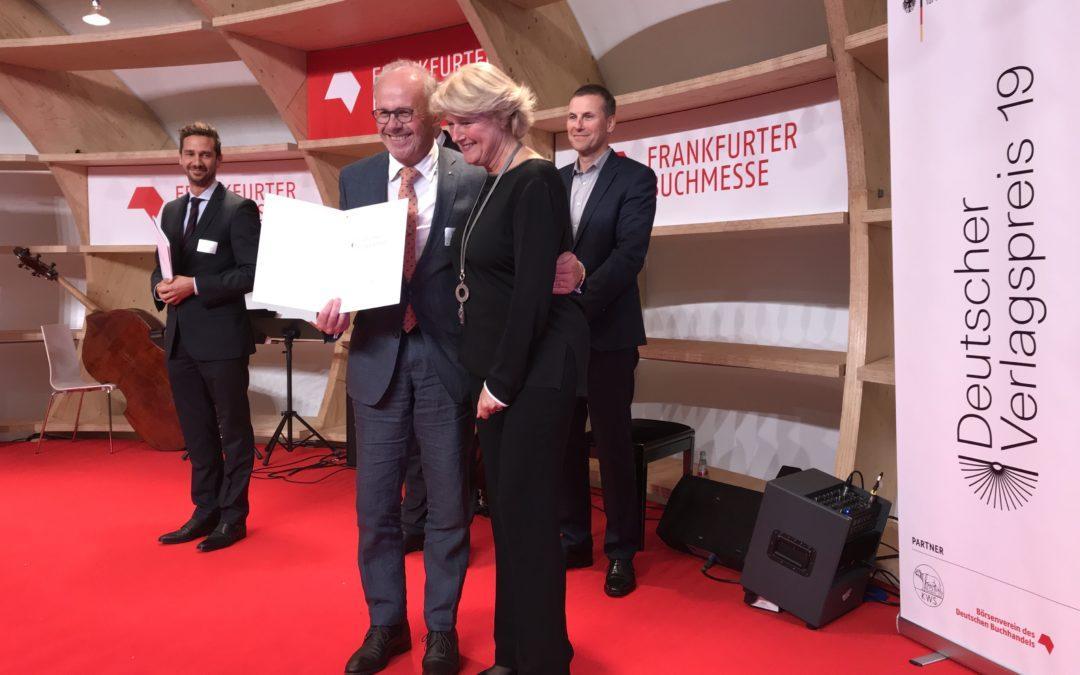 Schwaneberger Verlag awarded the German Publishers Prize 2019
