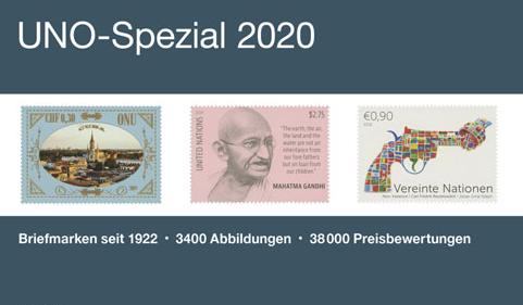 NEU ERSCHIENEN: MICHEL UNO-Spezial 2020 – Standardwerk der UNO-Philatelie