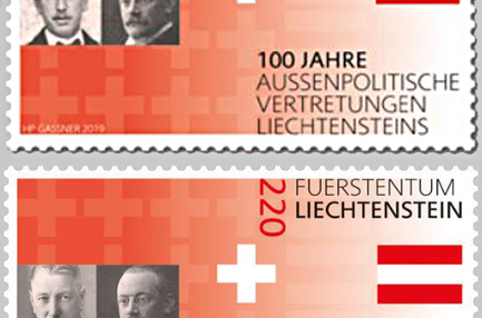 Liechtenstein: special stamp issue with false portrait