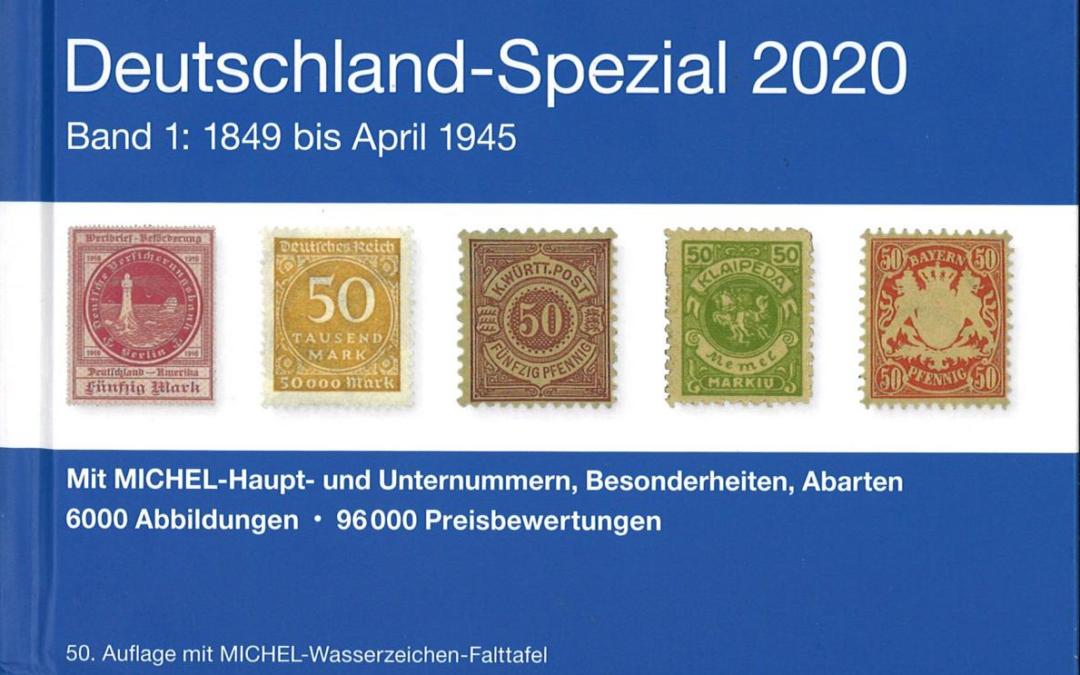 NEU ERSCHIENEN: MICHEL-Deutchland Spezial 2020 (Band 1 + 2)