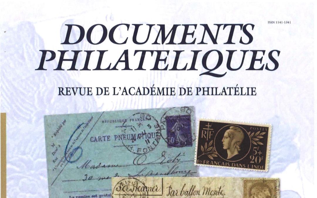 """Französische Akademie der Philatelie verbreitet neueste Ausgabe der """"Documents Philateliques"""" als kostenlose pdf"""