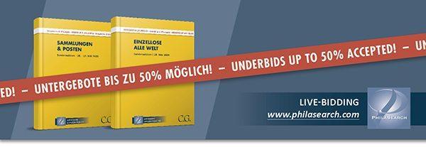 C.G.-Auktion am 26.–28. Mai lässt Untergebote bis zu 50% zu!