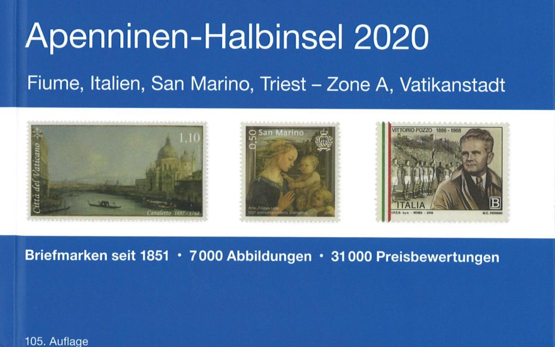 NEU: MICHEL Apenninen-Halbinsel Katalog 2020 (E 5) ist erschienen!