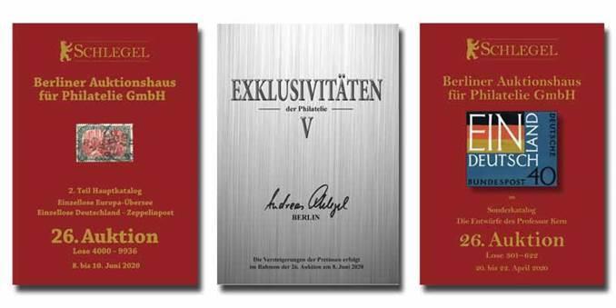 VORSCHAU: 26. Schlegel-Auktion vom 8.–10. Juni 2020 in Berlin