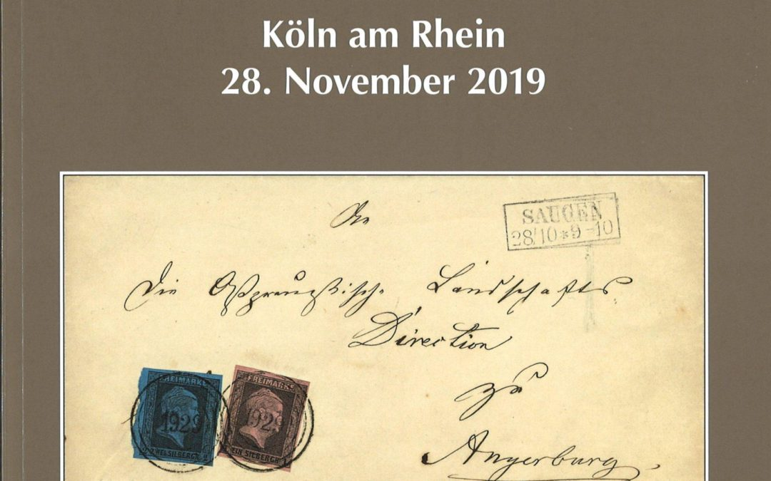 """PREVIEW: 157th Dr. Derichs auction on 28 November 2019 in Cologne. Special catalogue """"The Postal History of the Memelland""""."""