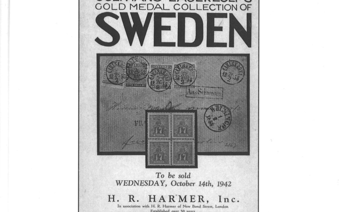Tomas Bjaeringer / Jonas Hällström: Sweden in Philately.                              A Bibliography and Saga of name sales and important collections sold in public 1907–2020