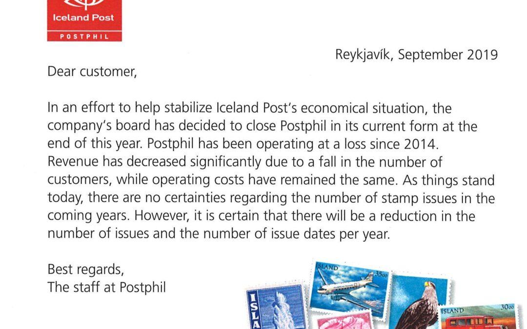 Isländische Postversandstelle vor dem Aus!