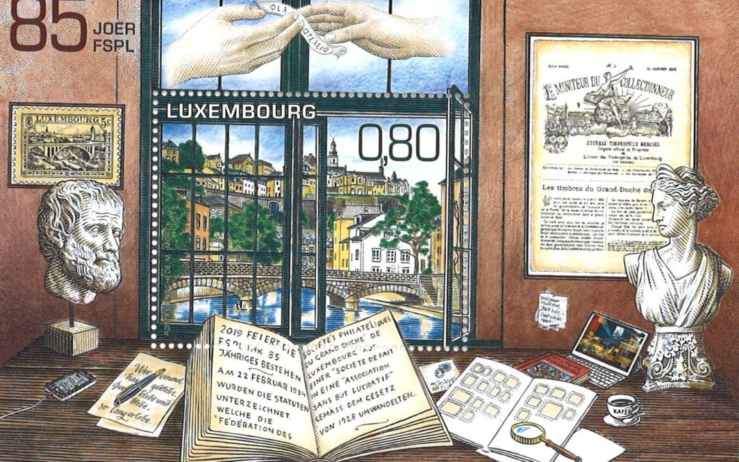 Luxembourg celebrates the 85th anniversary of the Philatelists Association