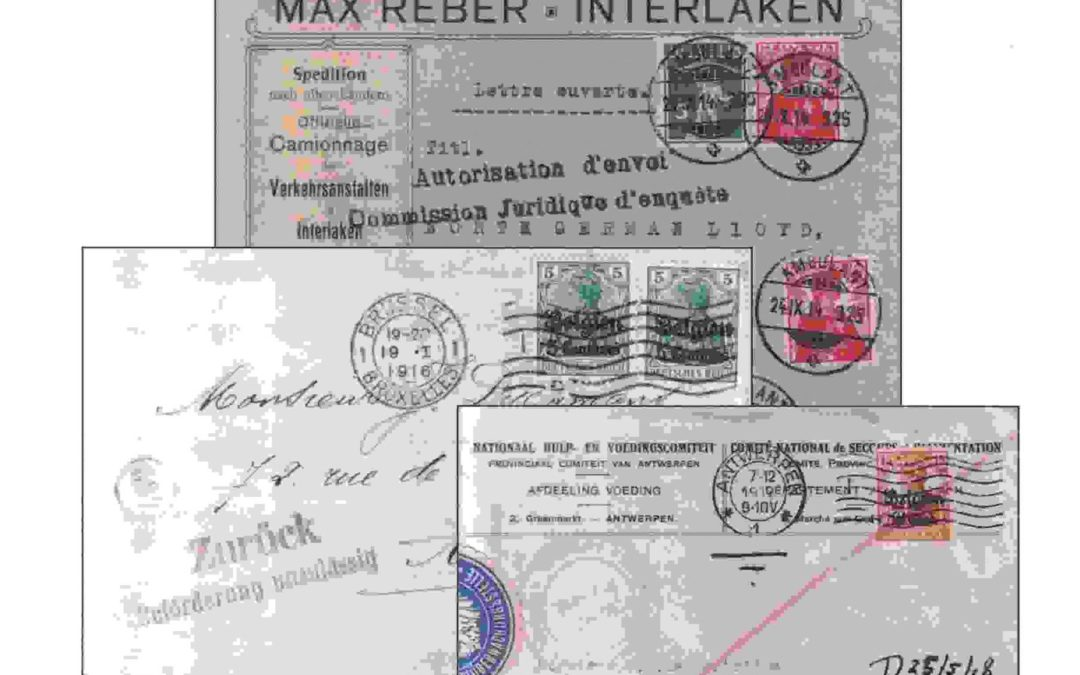 PIZER, Robin, German Occupation of Belgium and North Eastern France, 1914-1918. Civilian Mail Postal Service and Postage Rates: with Particular Emphasis on the Postal History.